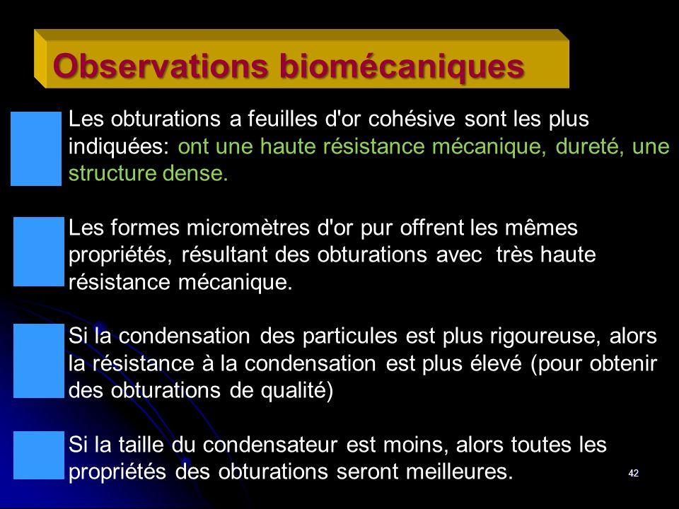 Observations biomécaniques