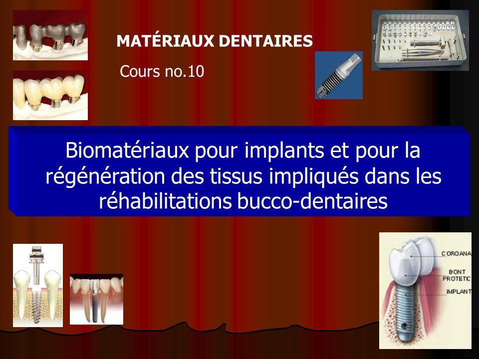 MATÉRIAUX DENTAIRES Cours no.10.