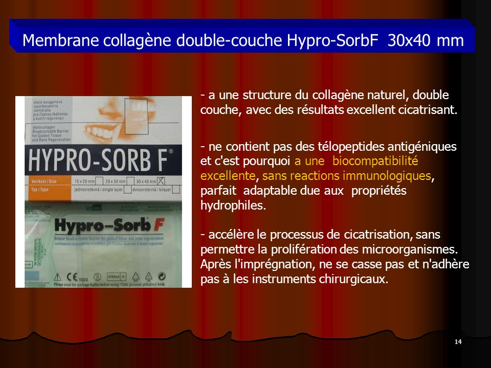 Membrane collagène double-couche Hypro-SorbF 30x40 mm