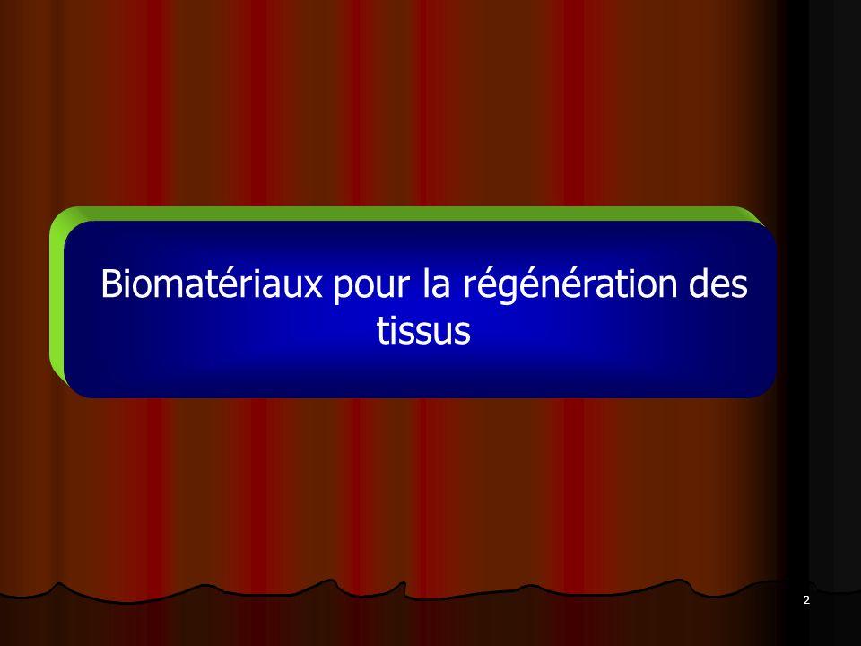 Biomatériaux pour la régénération des tissus