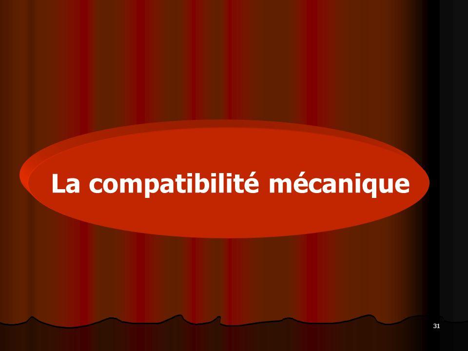 La compatibilité mécanique