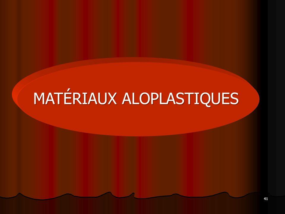 MATÉRIAUX ALOPLASTIQUES
