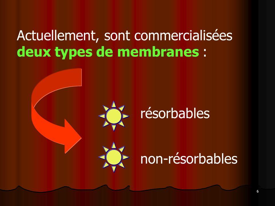 Actuellement, sont commercialisées deux types de membranes :
