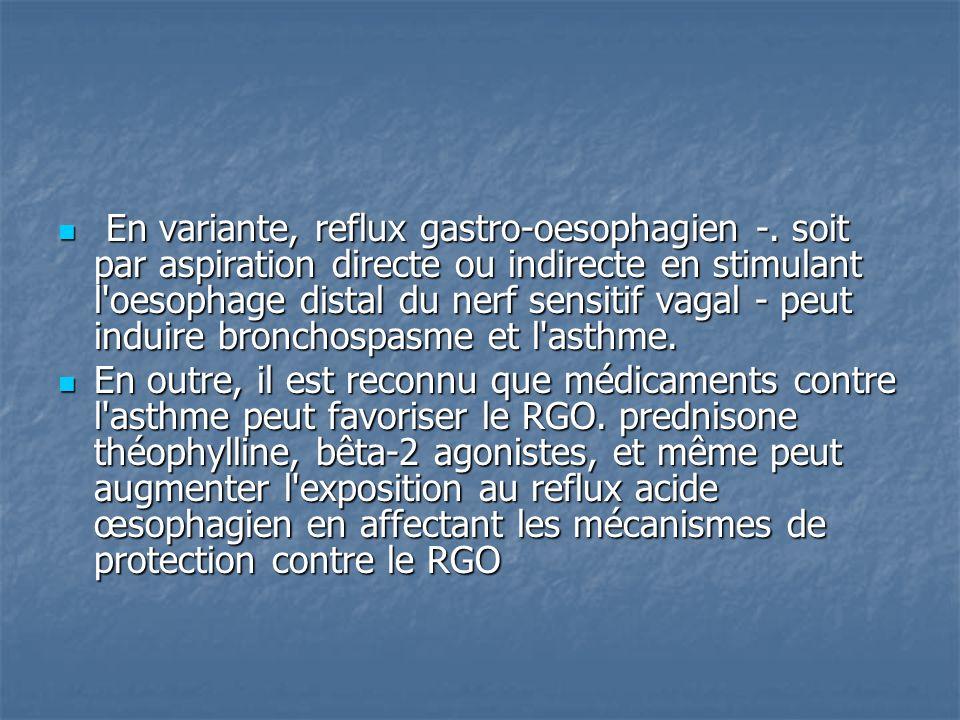 En variante, reflux gastro-oesophagien -