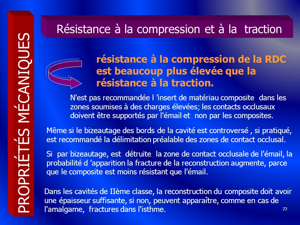 Résistance à la compression et à la traction