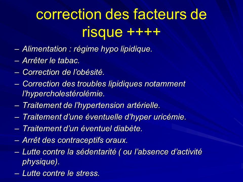 correction des facteurs de risque ++++