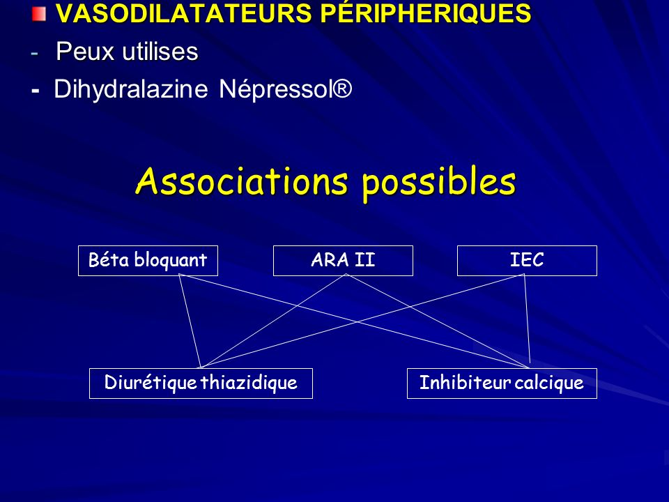 Associations possibles