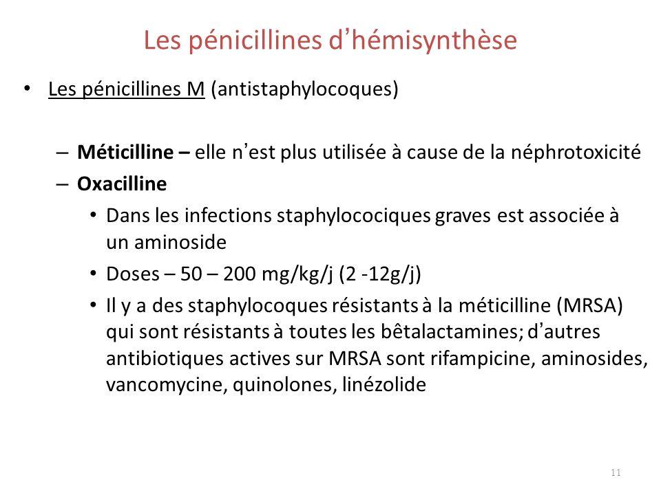 Les pénicillines d'hémisynthèse