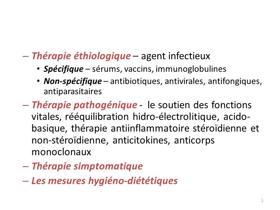 Thérapie éthiologique – agent infectieux
