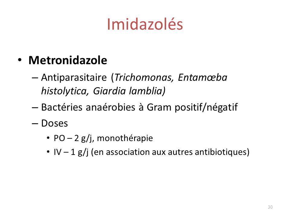 Imidazolés Metronidazole