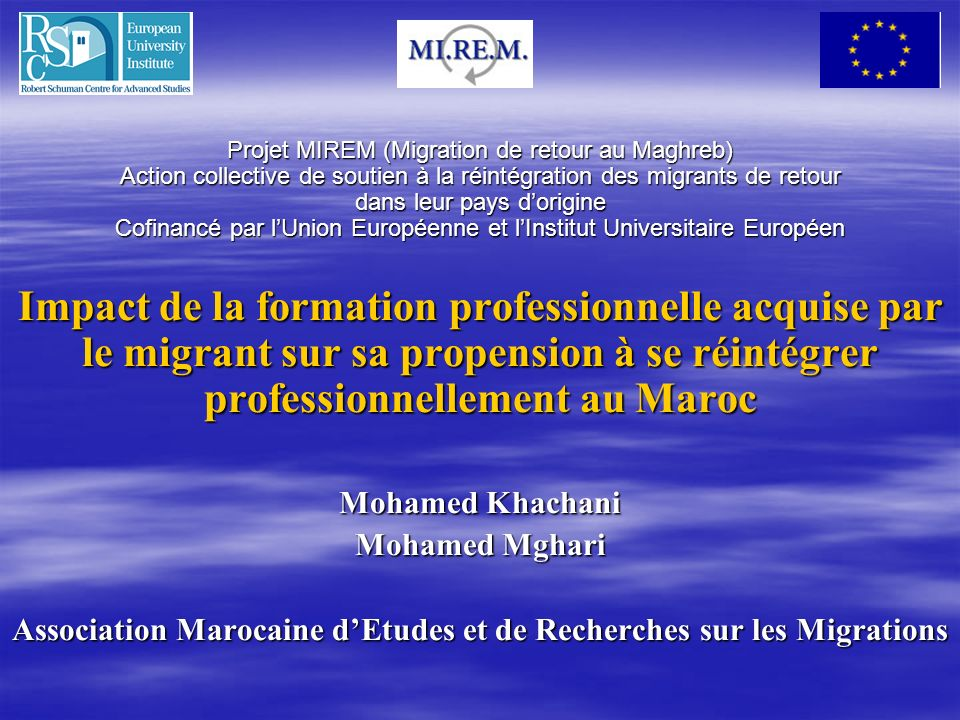 Association Marocaine d'Etudes et de Recherches sur les Migrations