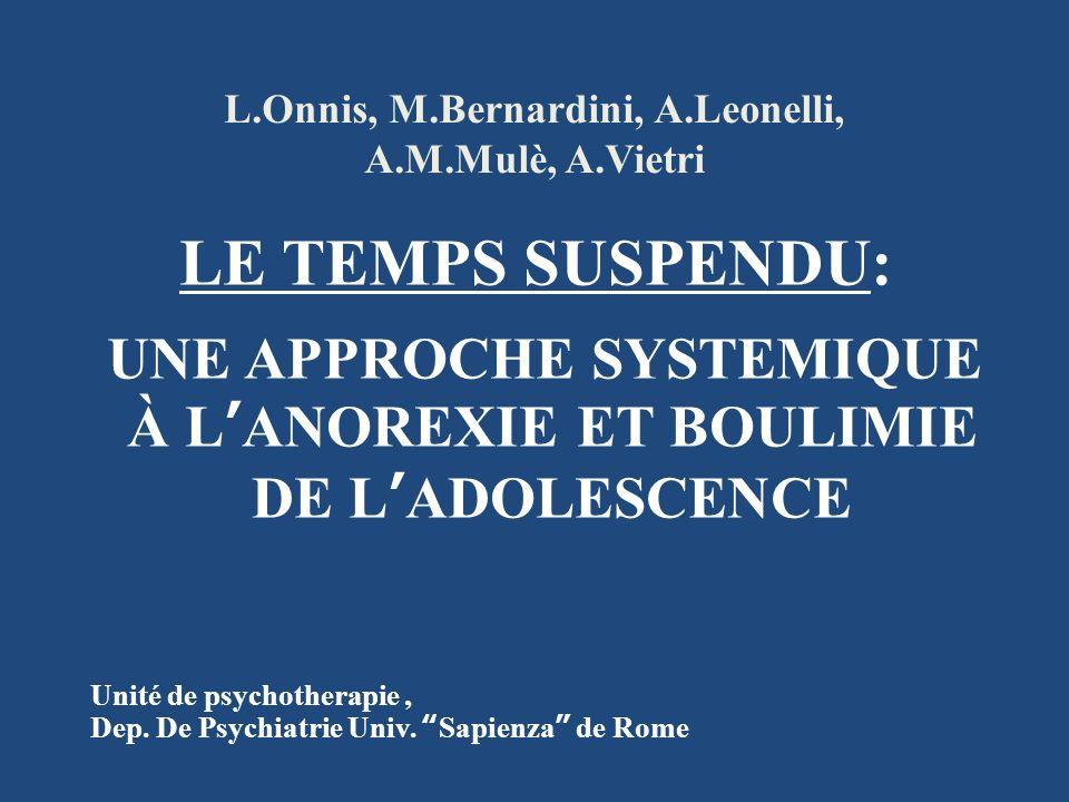 L.Onnis, M.Bernardini, A.Leonelli, A.M.Mulè, A.Vietri