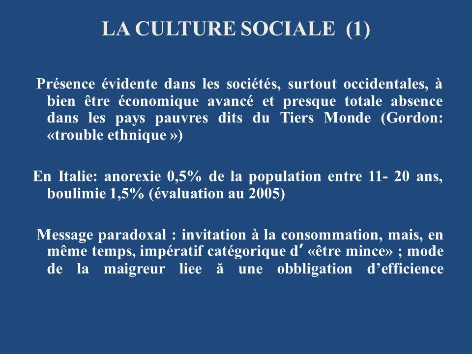 LA CULTURE SOCIALE (1)
