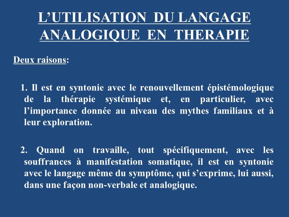 L'UTILISATION DU LANGAGE ANALOGIQUE EN THERAPIE