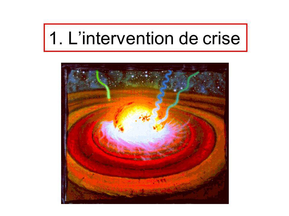 1. L'intervention de crise