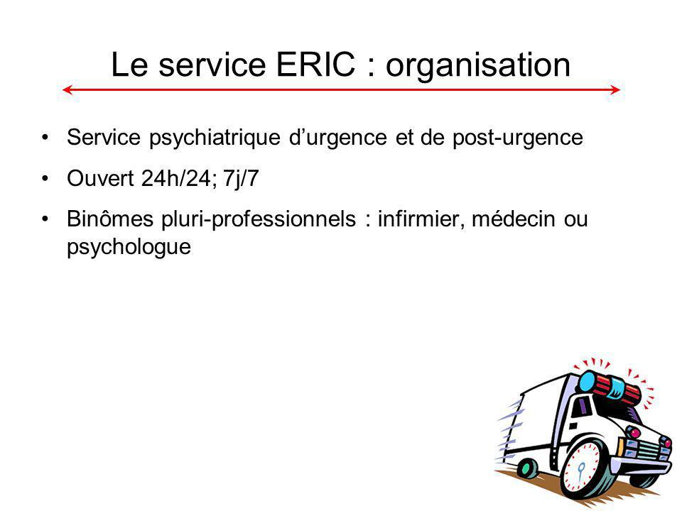 Le service ERIC : organisation
