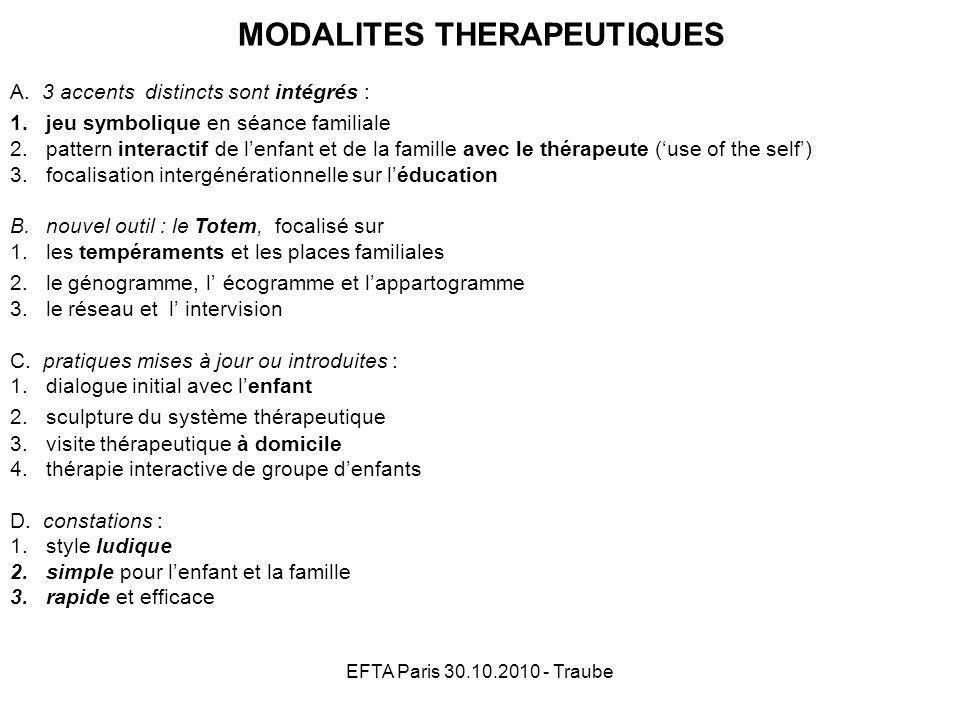 MODALITES THERAPEUTIQUES