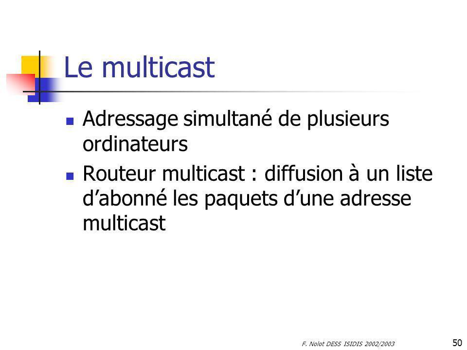 Le multicast Adressage simultané de plusieurs ordinateurs