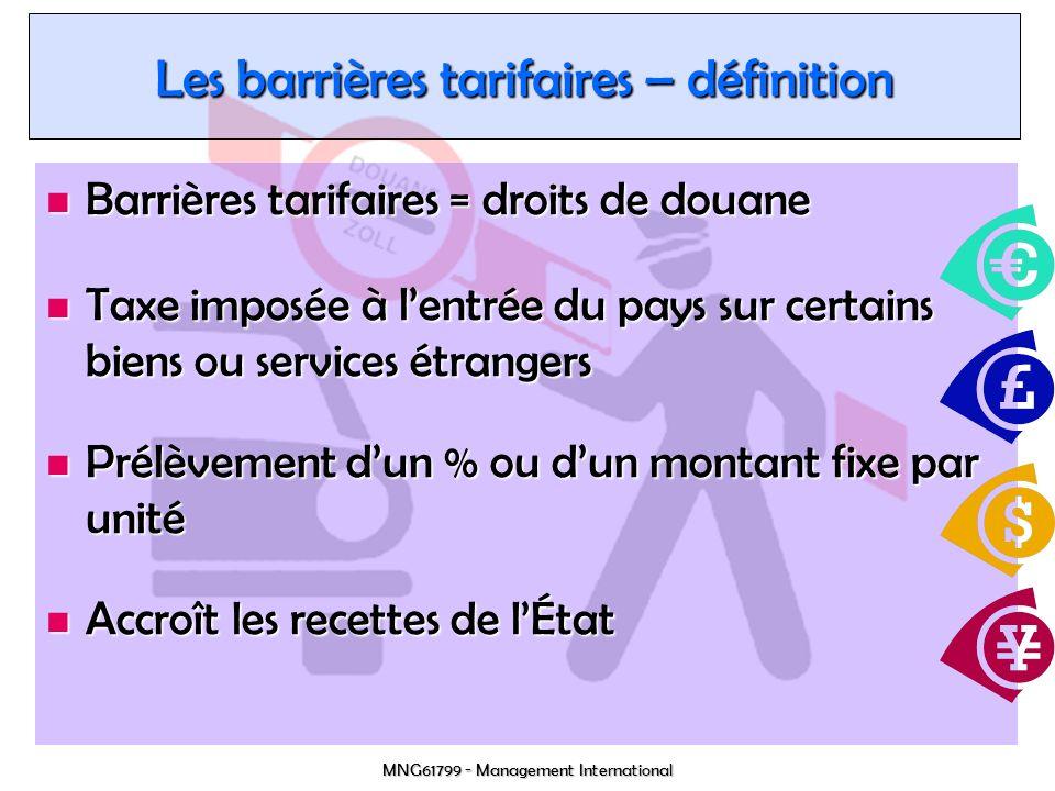 Les barrières tarifaires – définition
