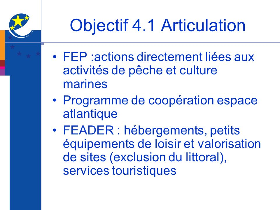 Objectif 4.1 Articulation