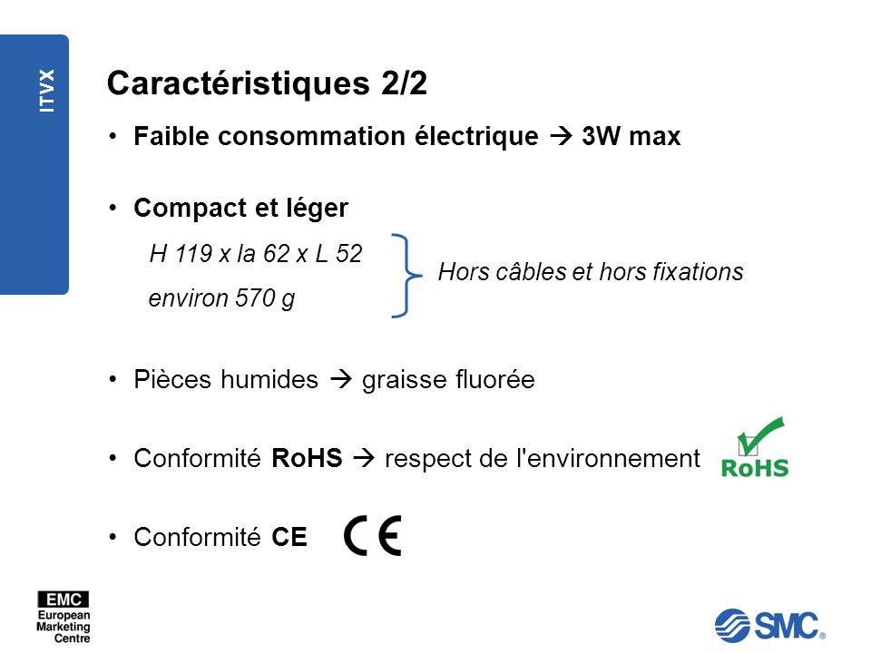 Caractéristiques 2/2 Faible consommation électrique  3W max