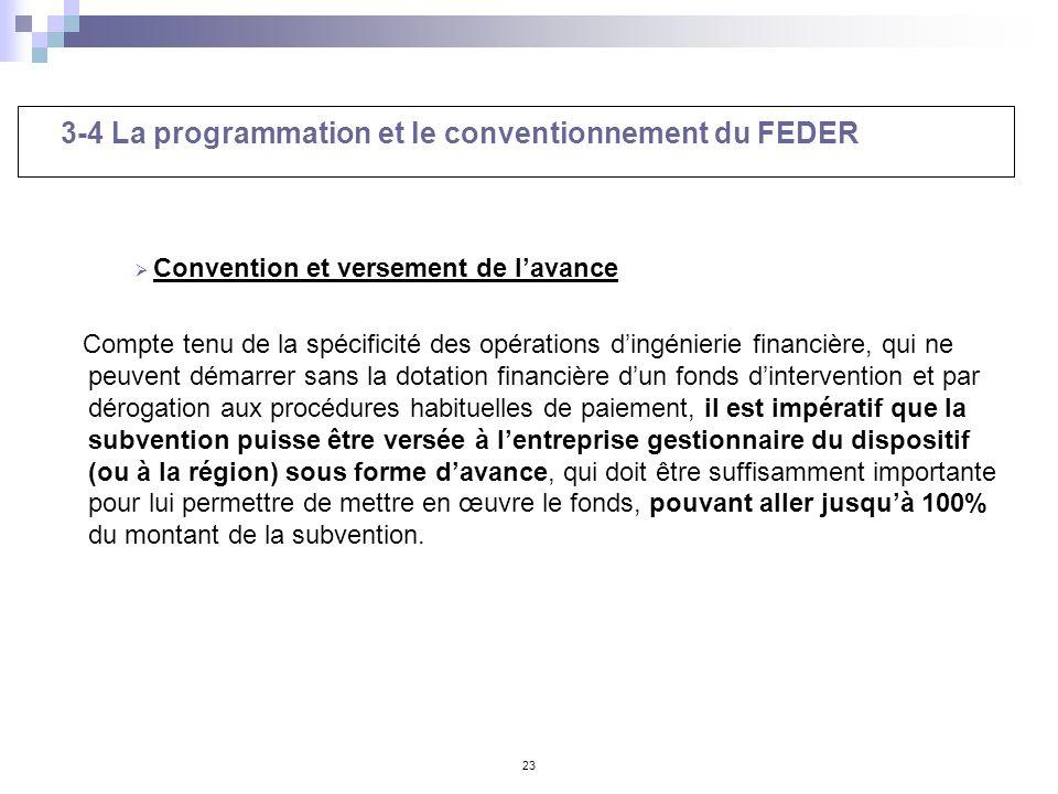 3-4 La programmation et le conventionnement du FEDER