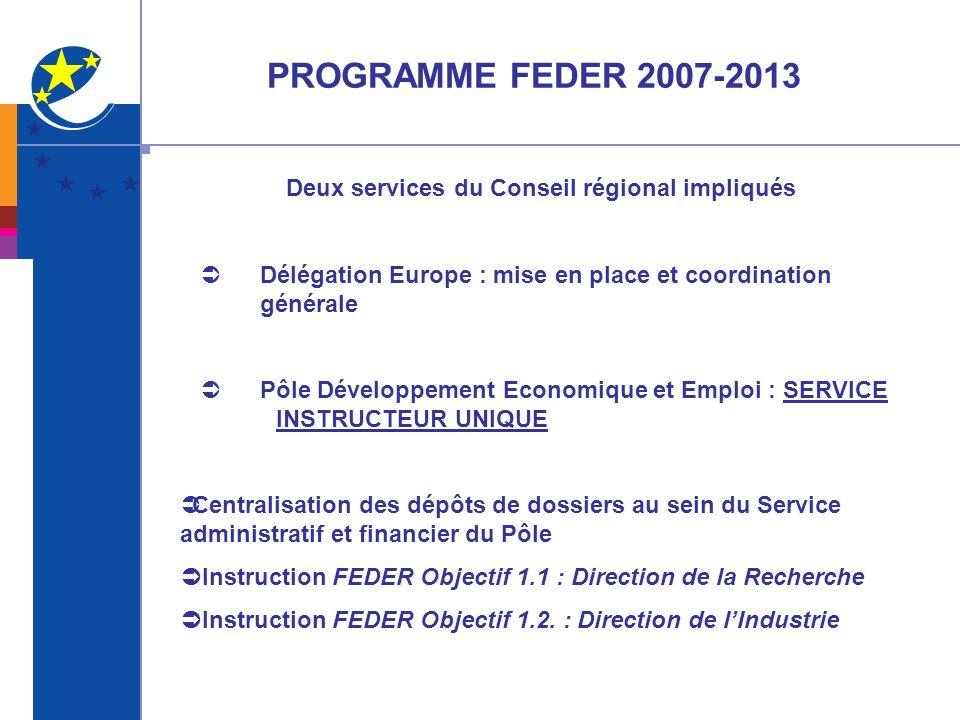 Deux services du Conseil régional impliqués