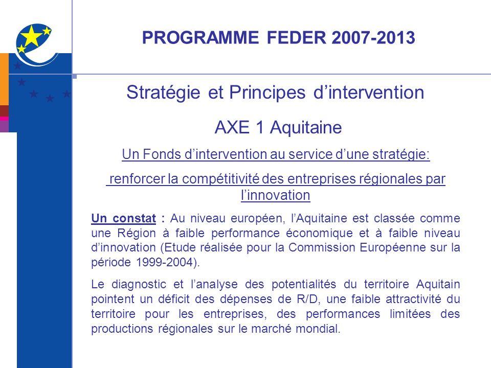Stratégie et Principes d'intervention AXE 1 Aquitaine