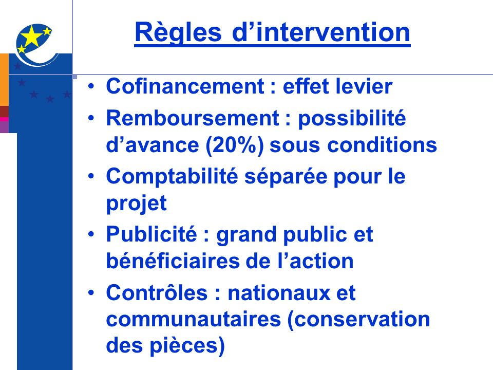 Règles d'intervention