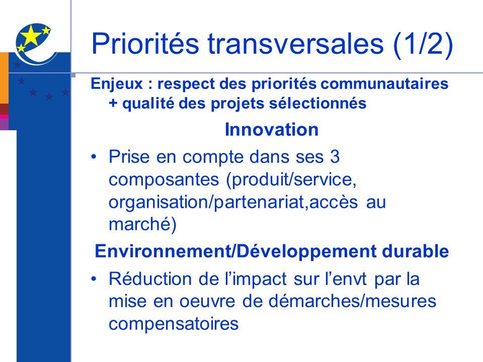Priorités transversales (1/2)