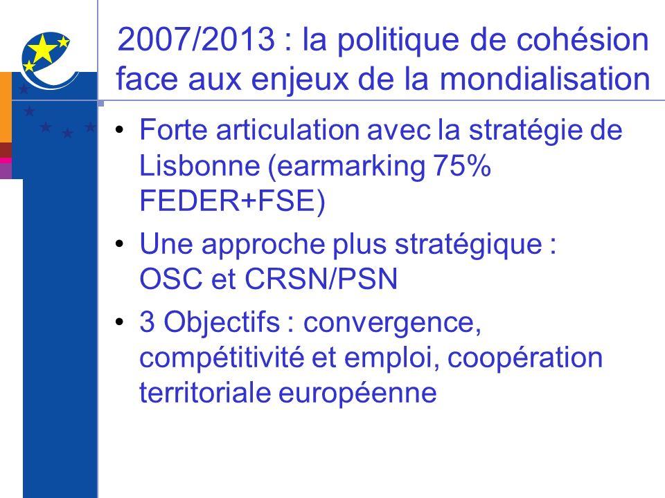 2007/2013 : la politique de cohésion face aux enjeux de la mondialisation