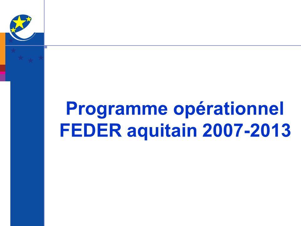 Programme opérationnel FEDER aquitain 2007-2013