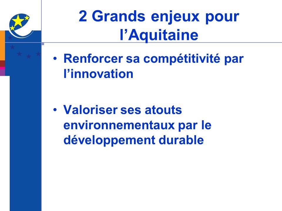 2 Grands enjeux pour l'Aquitaine