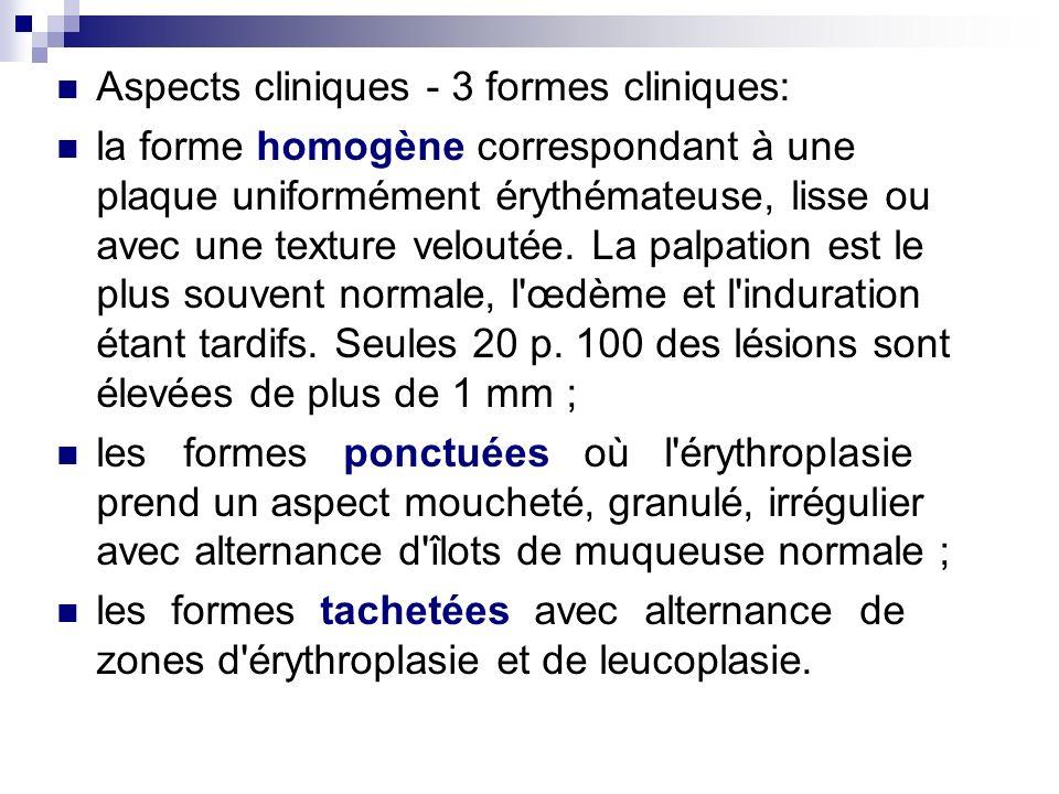 Aspects cliniques - 3 formes cliniques: