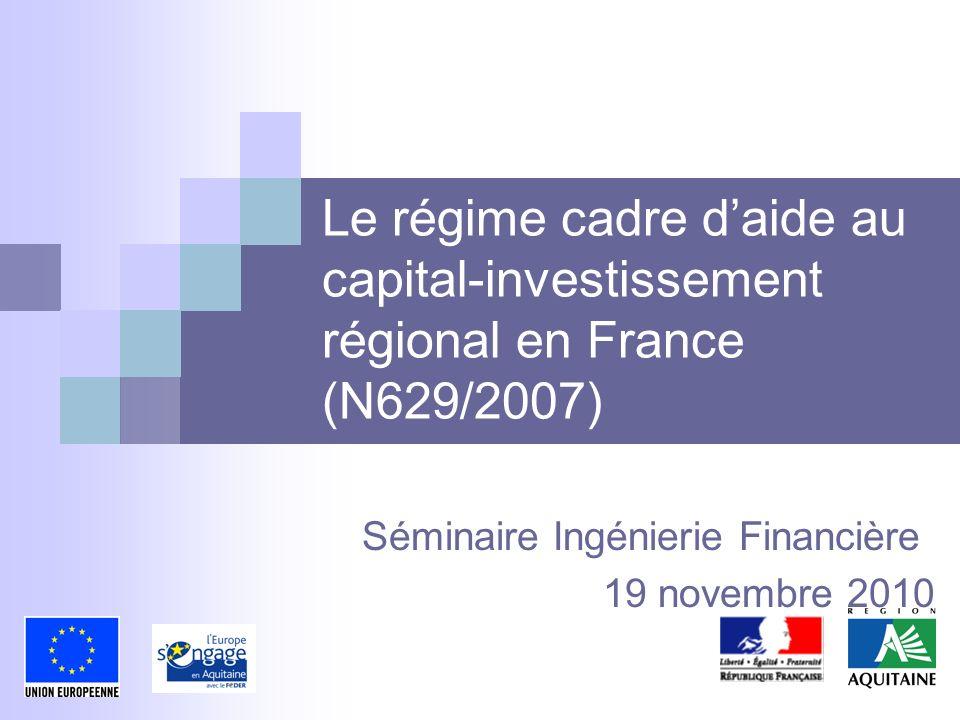 Séminaire Ingénierie Financière 19 novembre 2010