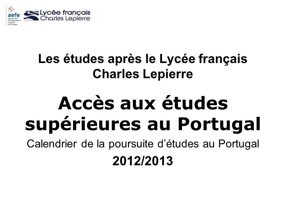 Accès aux études supérieures au Portugal