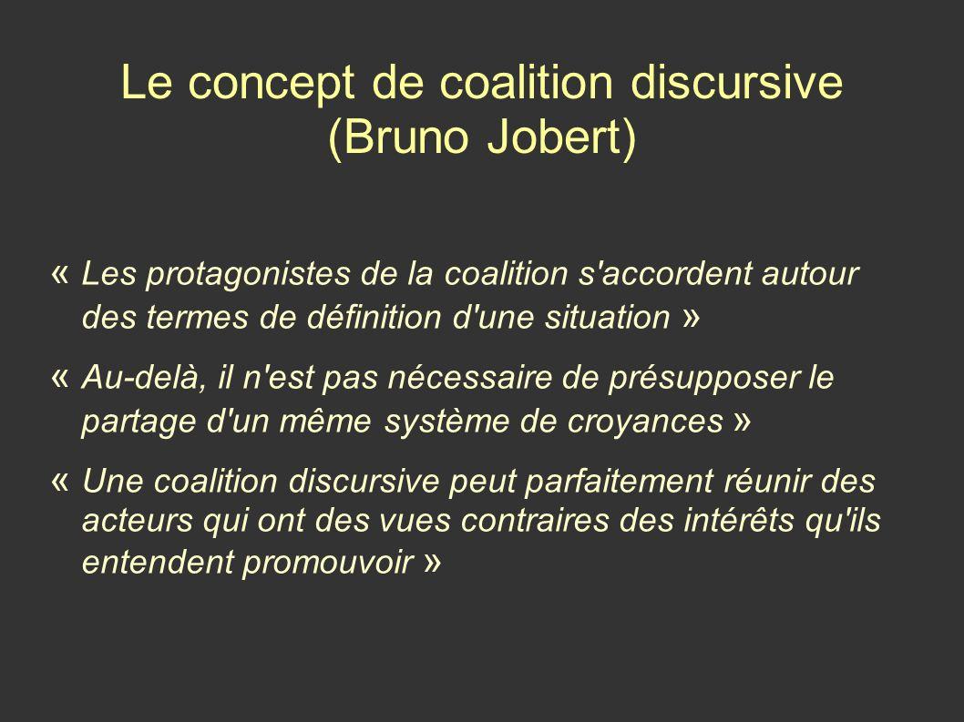 Le concept de coalition discursive (Bruno Jobert)