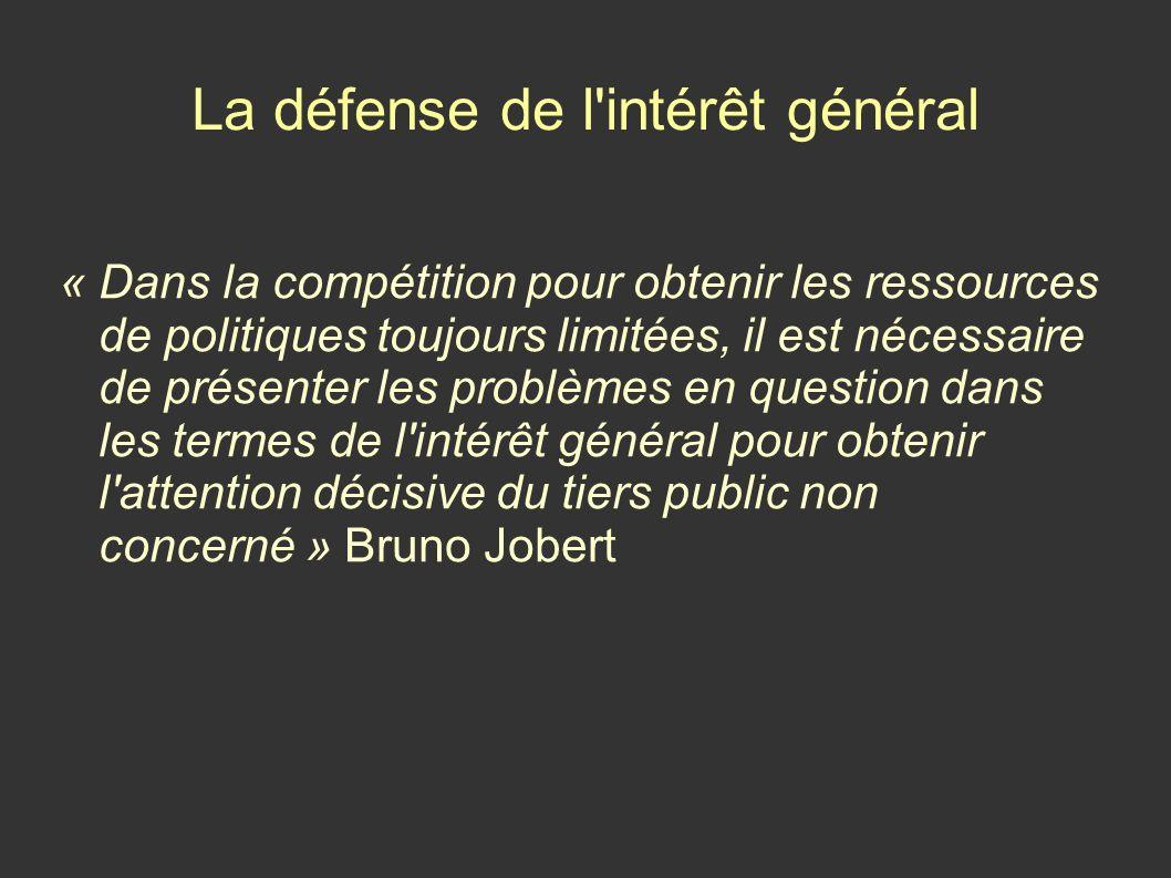 La défense de l intérêt général