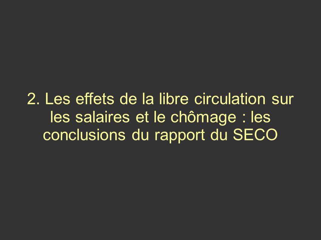 2. Les effets de la libre circulation sur les salaires et le chômage : les conclusions du rapport du SECO