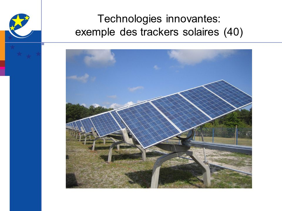 Technologies innovantes: exemple des trackers solaires (40)