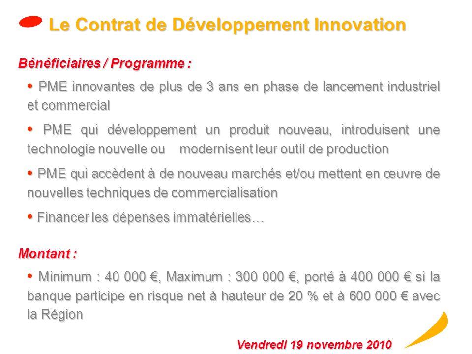 Le Contrat de Développement Innovation