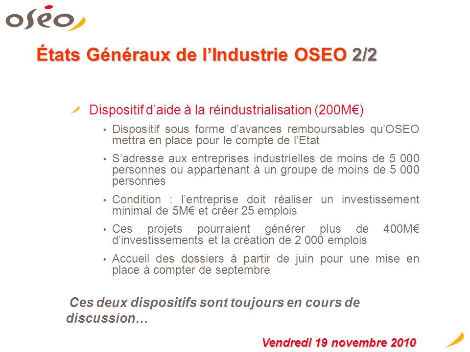 États Généraux de l'Industrie OSEO 2/2