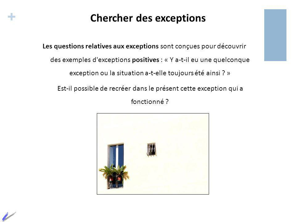 Chercher des exceptions
