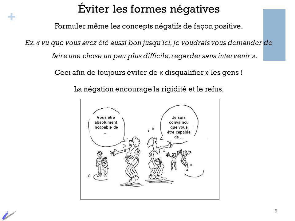 Éviter les formes négatives