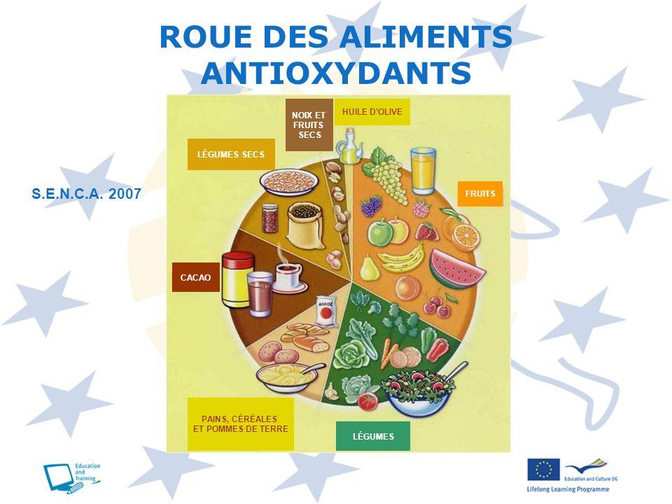 ROUE DES ALIMENTS ANTIOXYDANTS