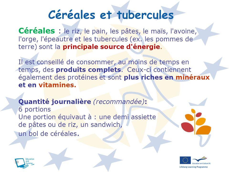 Céréales et tubercules