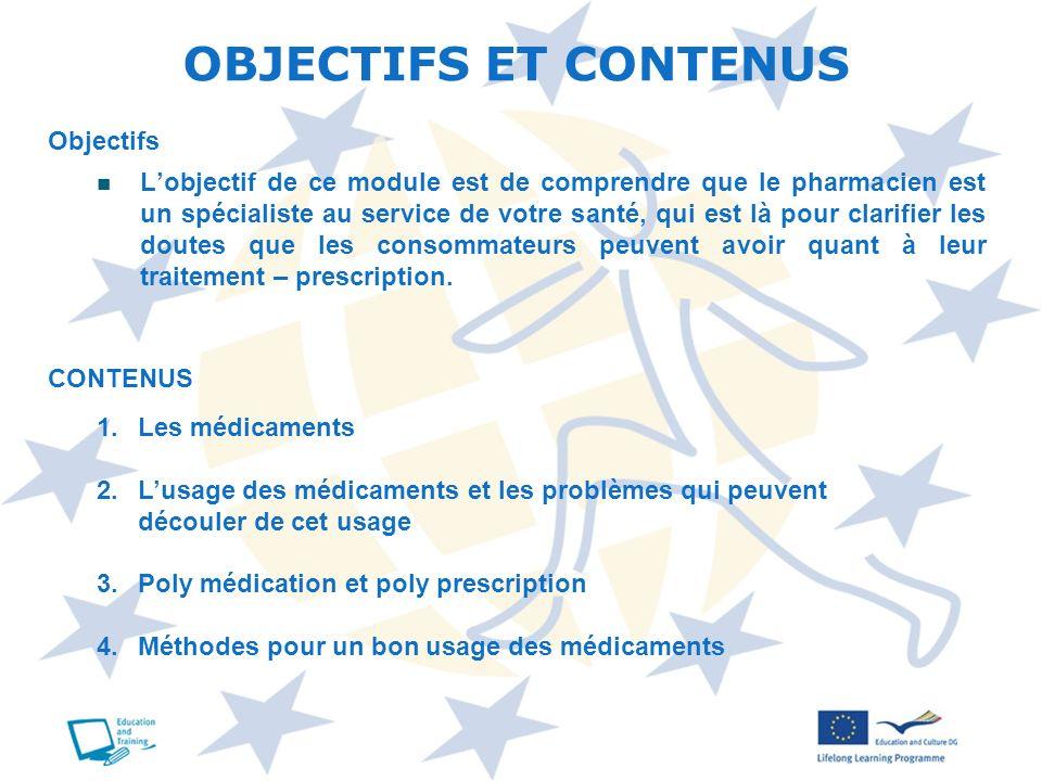 OBJECTIFS ET CONTENUS Objectifs