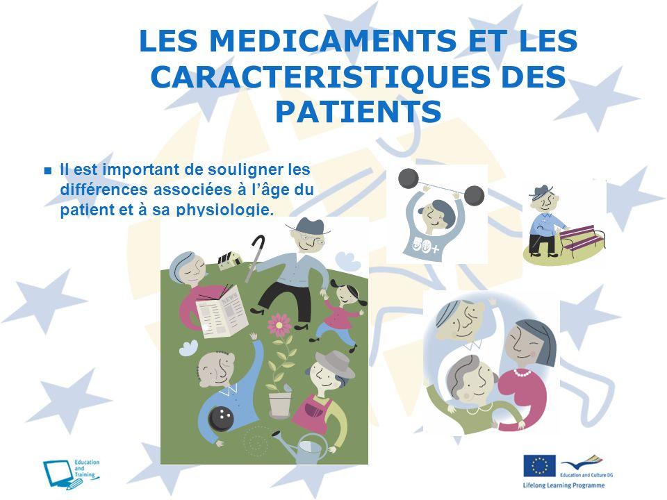 LES MEDICAMENTS ET LES CARACTERISTIQUES DES PATIENTS