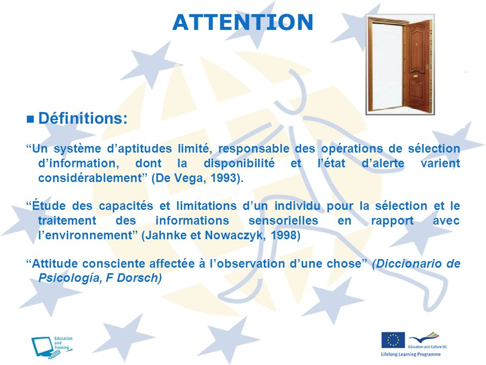 ATTENTION Définitions:
