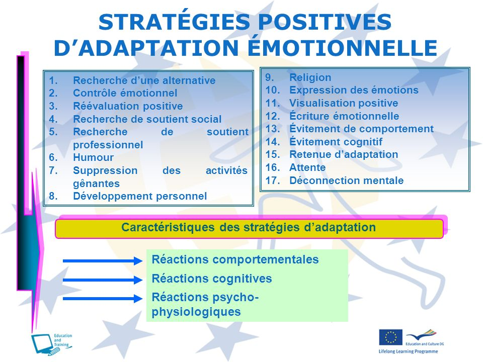 STRATÉGIES POSITIVES D'ADAPTATION ÉMOTIONNELLE